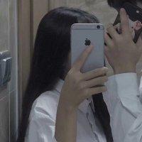 苹果手机遮脸情侣专用头像 幸运遇见了你