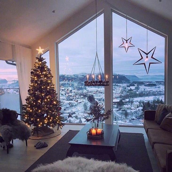落地窗外美丽的意境风景图片大全