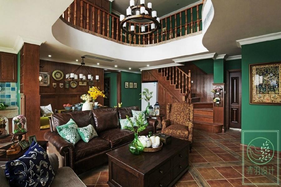 粗犷又不失优雅的美式别墅装修图片