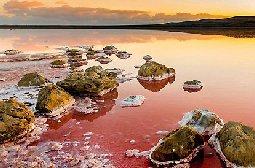 克里米亚盐湖景观图片如在火星