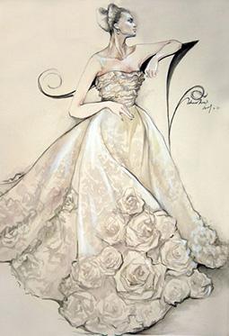 欣赏时尚潮流手绘婚纱图片大全