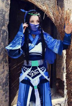 古装美女cosplay仙剑凌波丽图片