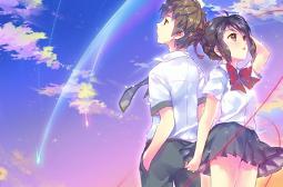 日本动画电影你的名字浪漫情侣高清壁纸