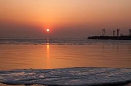 摄影海边日出日落好看的风景图片