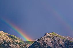 美丽的雨后彩虹美景高清摄影图片