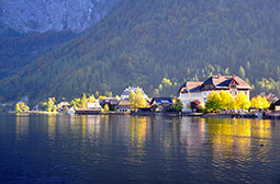 奥地利小镇优美风景高清摄影图片
