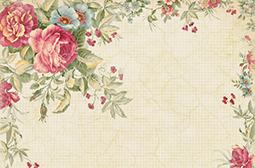 花卉边框的淡雅复古背景图片精选