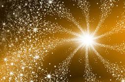 璀璨星光唯美梦幻黄色背景高清图片