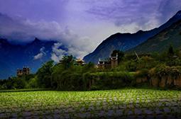 迷人的四川川西山间风景图片大全