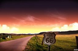 美国独特的66号公路风景图片大全