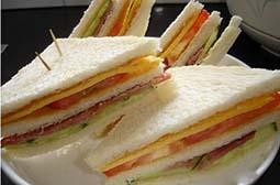 美味的三明治食物唯美意境图片素材
